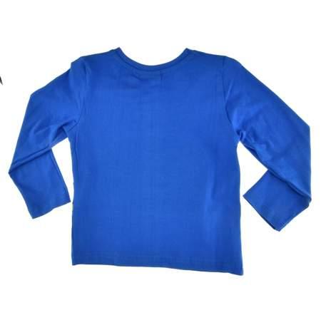 Bluzka dla dzieci z długim rękawem Cars Auta niebieska