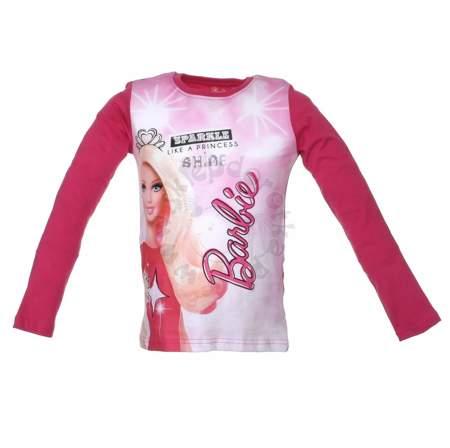 Bluzka dziecięca z długim rękawem z postacią z bajki Barbie