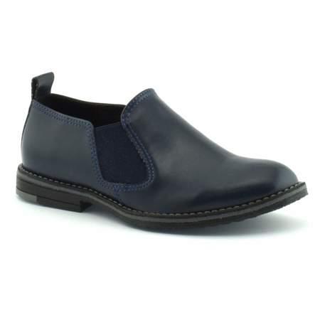 Granatowe buty komunijne dla chłopca Zarro 152/15