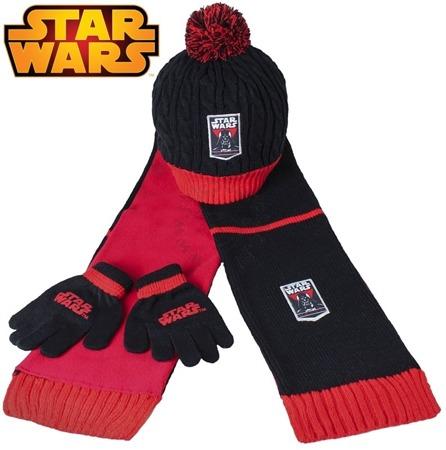 Komplet- czapka, szalik i rękawiczki z postaciami z filmu Star Wars