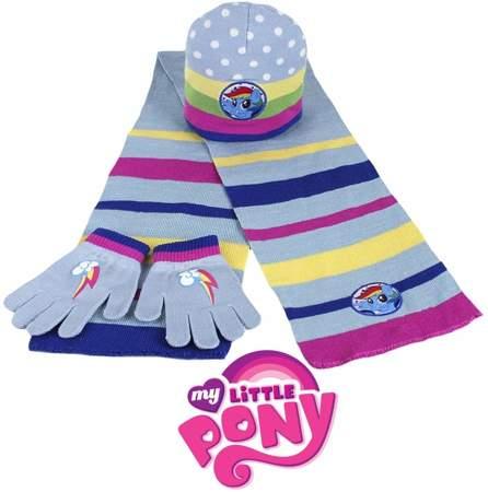 Komplet dla dzieci- czapka, szalik i rękawiczki My Little Pony