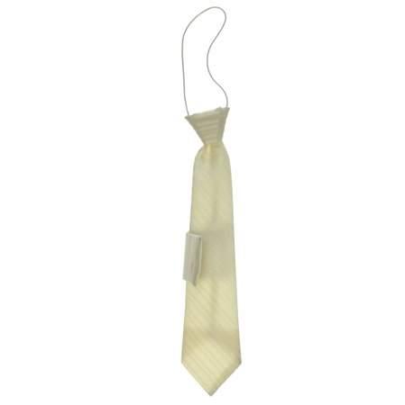 Krawat dla dzieci z poszetką Ecru