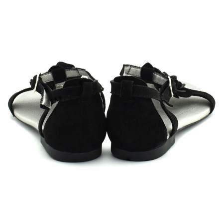 Sandały młodzieżowe Veronii 06346 Czarne