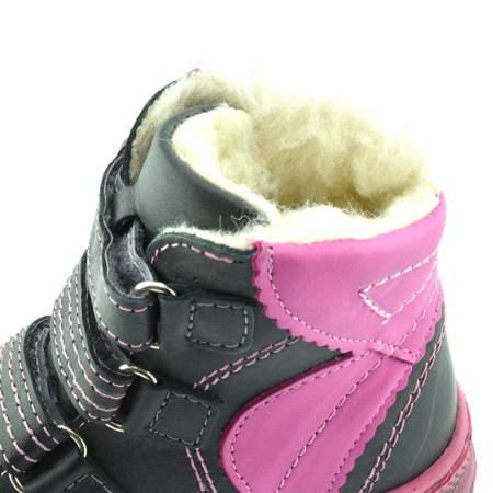 Skórzane buty zimowe dla dzieci Renbut 12-1364