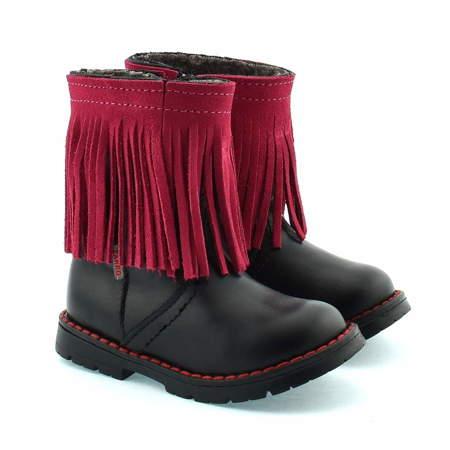 Skórzane buty zimowe dla dzieci Zarro 86/09
