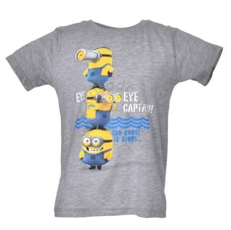 T-shirt dziecięcy z wizerunkiem bohaterów bajki Minionki