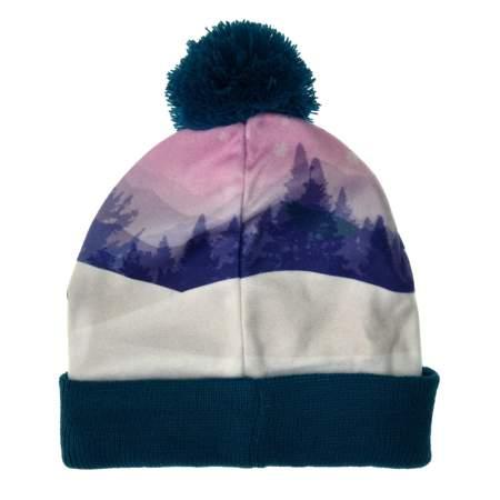 Zimowa czapka dla dzieci Masza i Niedźwiedź granatowa